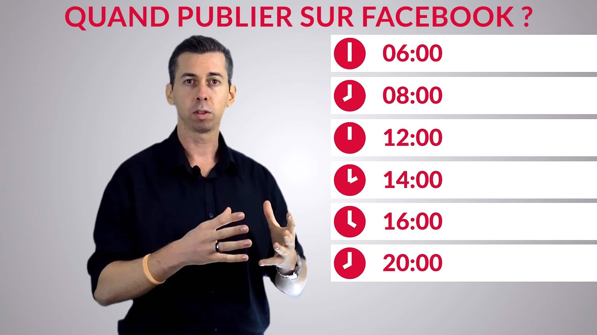 Meilleur moment pour publier sur Facebook - Les horaires